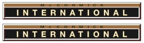 Mc Cormick Aufkleber international 246 Gold 2 x  Logo Emblem Sticker Label IHC
