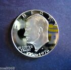1976-S SILVER PROOF TYPE # ONE BICENTENNIAL EISENHOWER DEEP CAMEO DUAL-DATED