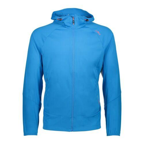 CMP Softshell chaqueta chaqueta Man Jacket fix Hood azul viento densamente resistente al agua