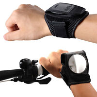 Bike Flexible Wrist Band Mirror/bicycle Wrist Band Reflex Rear View Mirror Black