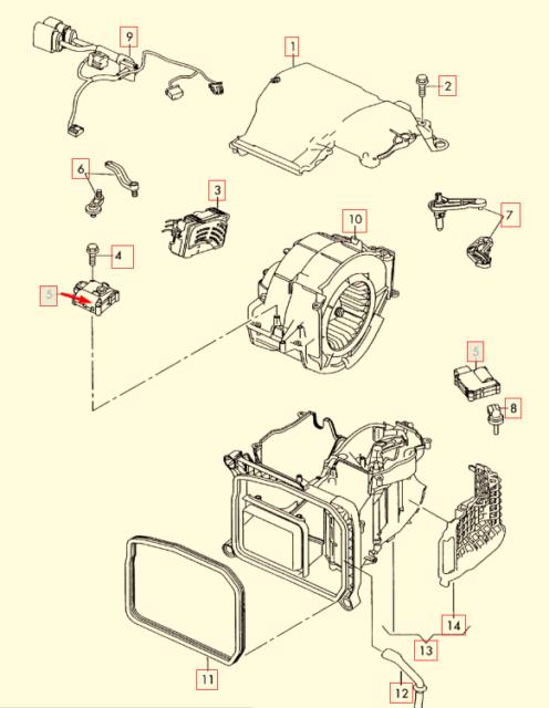 AUDI R8 42 Heater Flap Motor Actuator 4F0820511A NEW GENUINE