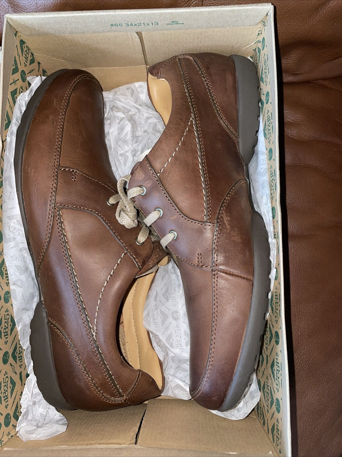 Clarks Men's Recline Out Shoes Tan Leather UK 11 H Fit