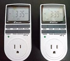 Enover 15A/1800W 7-day Programmable Plug-in Digital Timer Switch w/ 3-Prong Out