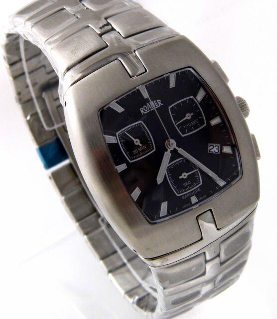 ROAMER SC2124 Herren Uhr Chronograph Edelstahl SWISS MADE UVP*339,00 € > > NEU