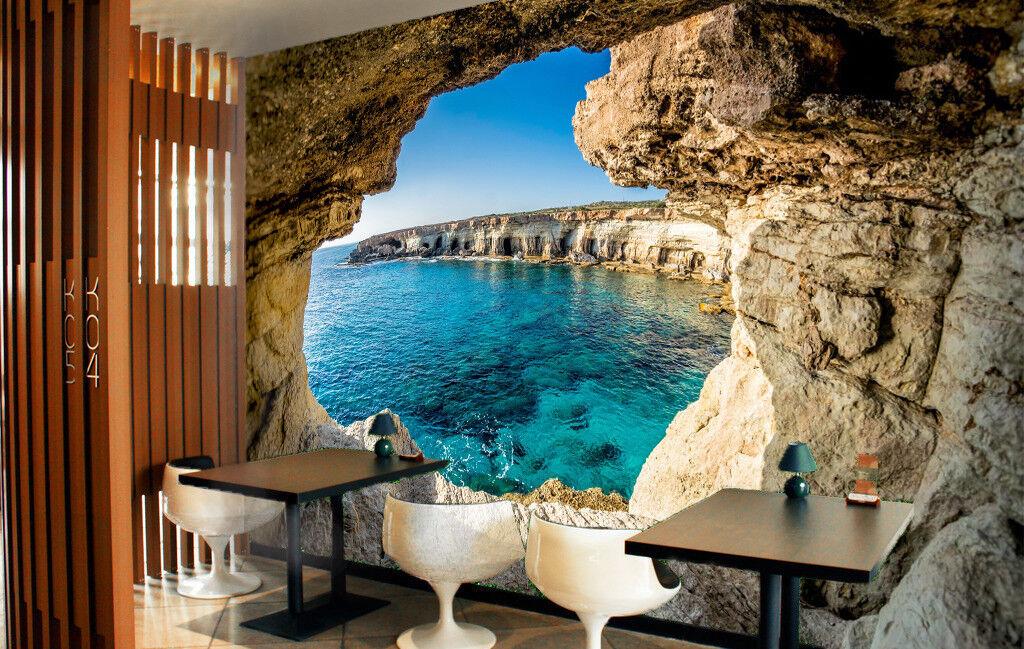 3D bluee Ocean Cave 7 Wall Paper Murals Wall Print Wall Wallpaper Mural AU Summer