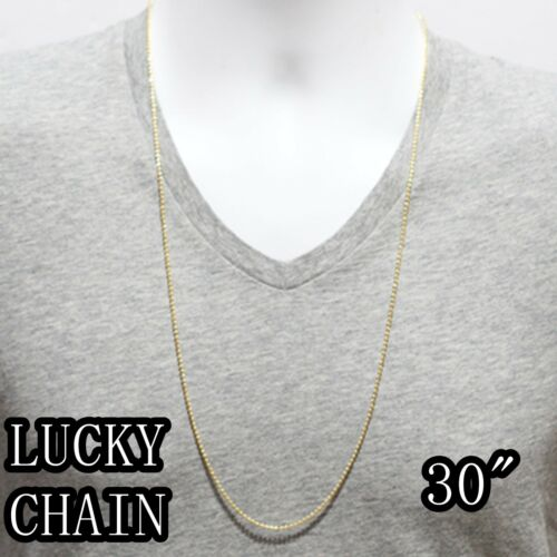 """30/"""" 925 Argent Sterling Or Lune Cut Chaîne Collier 5g-10g RO19 16/"""""""