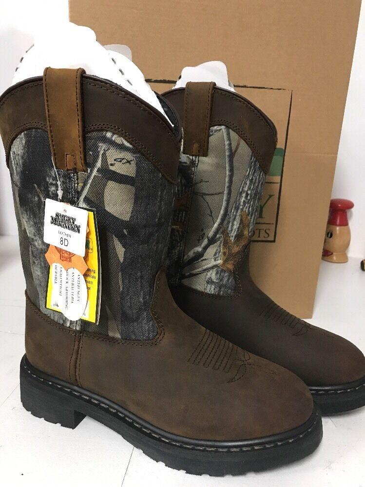 Smoky Mountain Boots Mens Camo Crazy Horse Leather- NIB