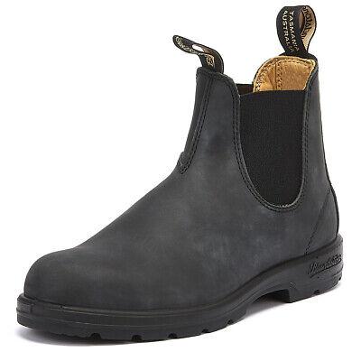 Coscienzioso Blundstone 587 Uomo Rustico Nero Chelsea In Pelle Caldi Invernali Alla Caviglia Scarpe-mostra Il Titolo Originale