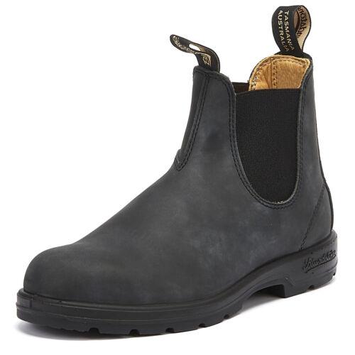 cálido de Hombres de cuero de Chelsea Botas negro 587 invierno tobillo Blundstone rústico Zapatos pOwnFxIqn