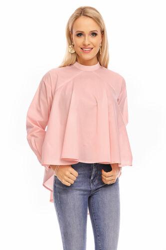 Chemisier Femmes chemise top manches longues tunique col officier Elegant Shirt Sweatshirt jl160