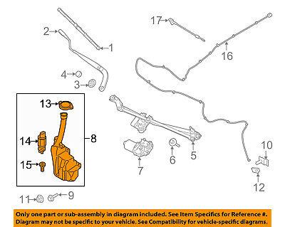FORD OEM 15-18 Mustang Wiper Washer-Windshield Fluid-Reservoir Tank GR3Z17618A