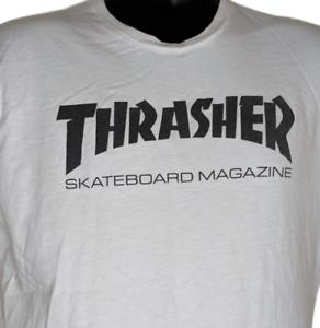 Thrasher Skateboard Magazine Tshirt Size Medium Skateboarding White