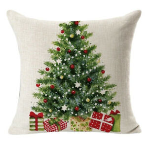 Christmas Tree Throw Pillow Cover Home Decorative Cushion Case Gift 18x18inch
