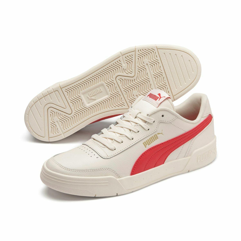 Puma Caracal Unisex Streetstyle Trainers Clubwear 369863 Wisper White Red