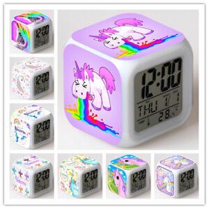 Einhorn Wecker Unicorn Led Nachtlicht Digital Alarm Wecker Best Geschenk 100% Original