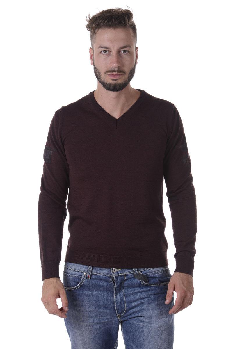 Maglia Daniele Alessandrini Sweater Lana ITALY men Bordeaux FM73134U3605 14
