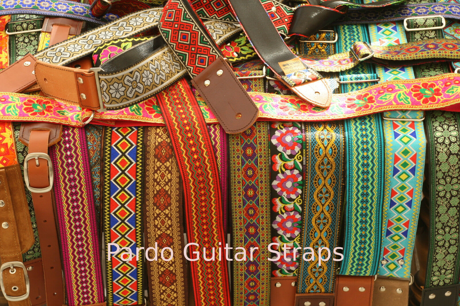 Correa de Guitarra Pardo Arco Iris verde 2' 5    de ancho de cuero hippie Patern bajo B147US 0fb698