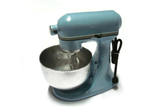 Dollhouse Miniatures Light BLUE Mixer Stand Kitchenware Electric Bakery Cooking