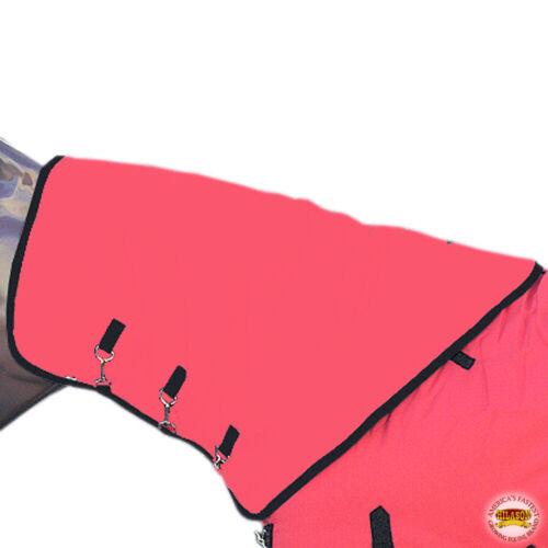 Med Hilason 1200D Winter Waterproof Poly Turnout Horse Hood Neck Cover U--MED