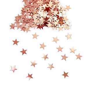 ABVERKAUF Girlande Sterne Glitter Metallic Star Rosegold Weihnachten Raumdeko