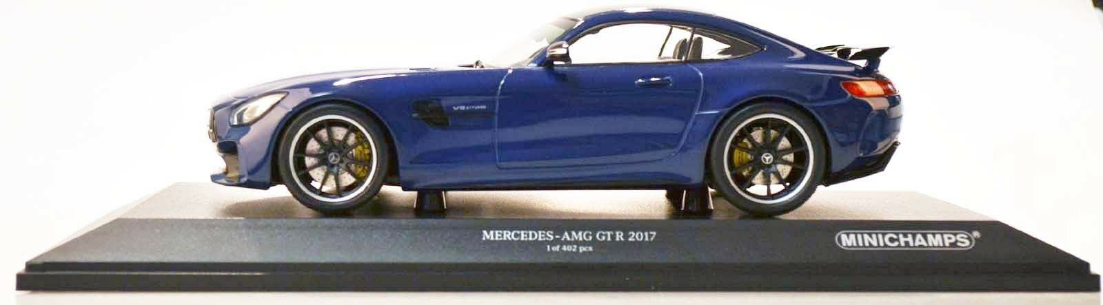 Minichamps 155036022 Mercedes-AMG GT R 2017 azul metalizado 1 18 nuevo en el embalaje original