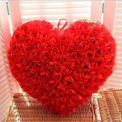 Romantic Roses Throw Pillows Heart Shaped Cushions Gifts for Lover