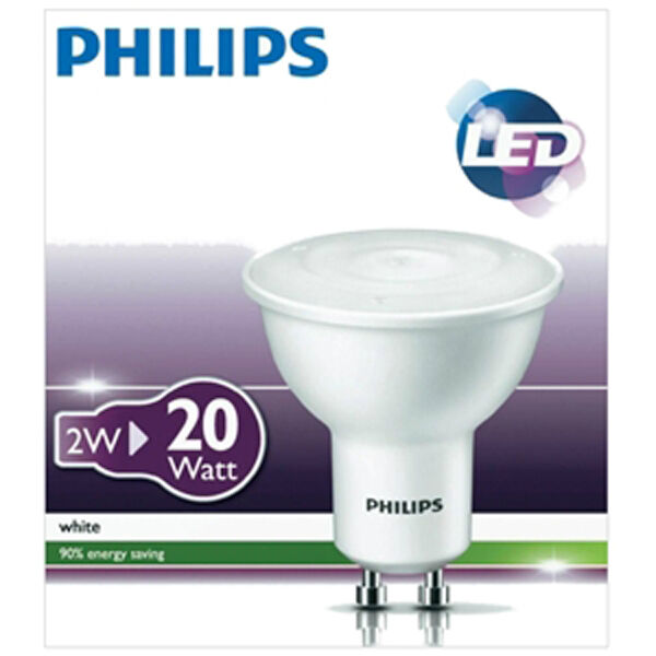 PHILIPS LOW ENERGY LED GU10 SPOT LAMP LIGHT BULB 230v-240v WARM WHITE HIGH POWER
