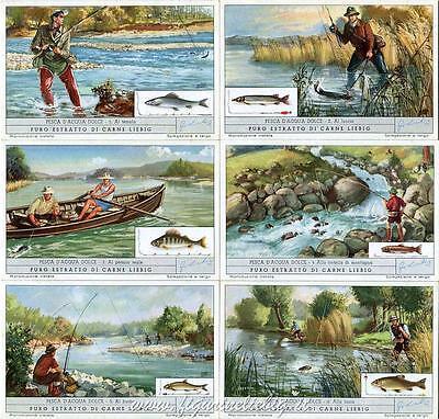 Chromo Liebig Sang. 1623 Ita Pesca D'acqua Dolce Anno 1955 Rapida Dissipazione Del Calore