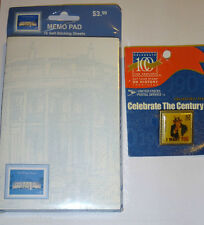 Usps Stamp Memo Pad White House Uncle Sam Pin Stamps Paper 4 X 6 Nip 2000