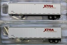 LOT of 2 - N Scale - ATLAS 50 002 603 & 604 XTRA INTERMODAL 45' Pines Trailers