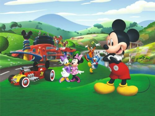 Disney wall mural wallpaper children/'s bedroom Mickey Mouse race PREMIUM photo