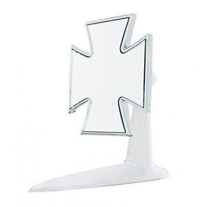 Chrome-Iron-Maltese-Cross-4-034-Door-Mirror-Universal-Hot-Rod-Chevy-Street-Custom