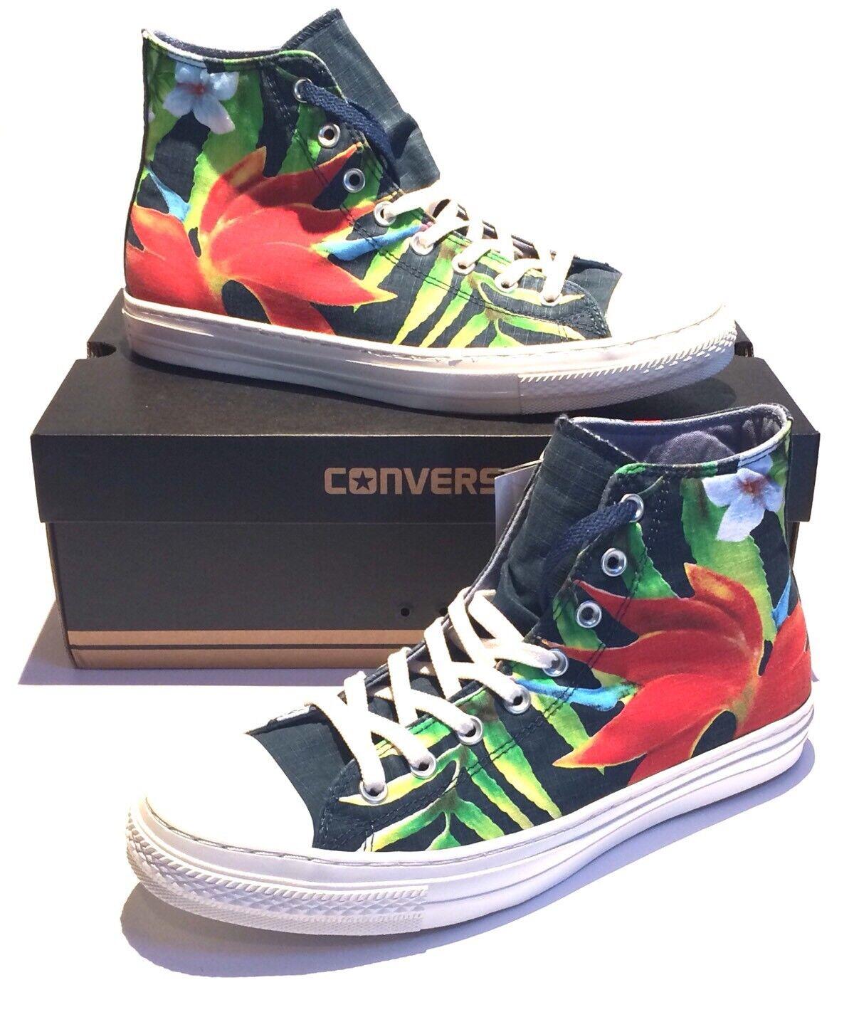 Converse CTAS Hi Dark 140793C Denim Tropical Floral Sneakers 140793C Dark 2282cc