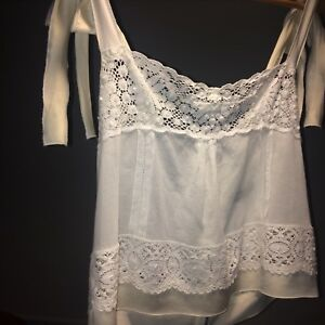 Dolce-amp-Gabbana-Cropped-Cami-Silk-Top-Camisole-Sleeveless-Vest-Size-42-Uk-14