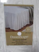 Dreamscape Twin Ruffled Bedskirt 200 Thread Count Ivory