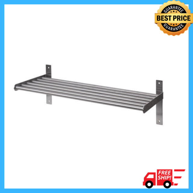 lowest price 04a01 6c718 Ikea GRUNDTAL Kitchen Home Wall Shelf Rack Holder,Stainless Steel,Multi  Use,60cm