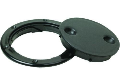 "Boat Marine Twist And Lock Deck Plate 4 1//2/"" Cutout 4/"" ID Black O Ring Seal"