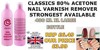 Xnc Classics Nail Polish Varnish Remover 400ml Extra Strength 80 Acetone Strong Ebay
