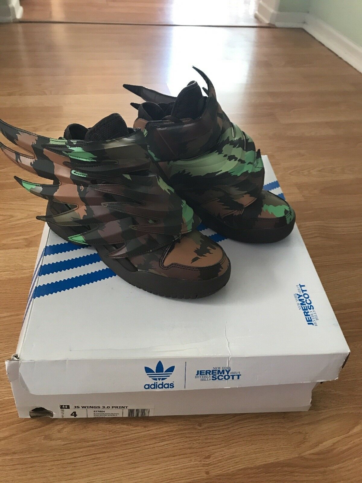 Adidas Original Jermey Scott Wings 3.0 Camo Sauvage Size 4