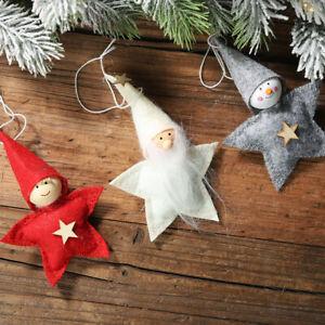 AU-FT-3x-Christmas-Star-Doll-Toy-Xmas-Tree-Hanging-Ornaments-Room-Decor-Novelt