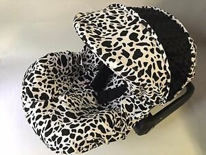 Phenomenal Details About Baby Car Seat Cover Canopy Cover Fit Most Infant Car Seat Cow Print White Black Frankydiablos Diy Chair Ideas Frankydiabloscom