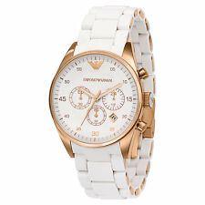 Emporio Armani AR5920 White dial Women's chronograph Watch Extra