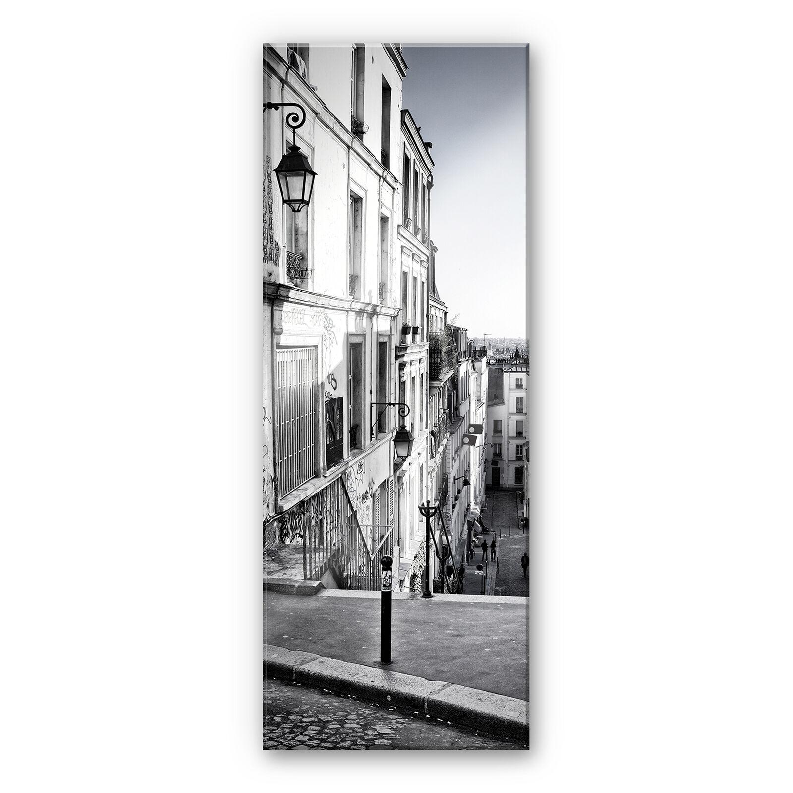 Acrylglas XXL Wandbild Montmartre - Panorama schwarz weiß BILD hohe Farbechtheit