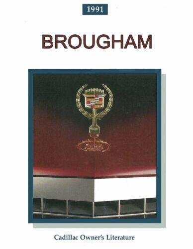 Bishko OEM Maintenance Owner/'s Manual Bound for Cadillac Brougham 1991