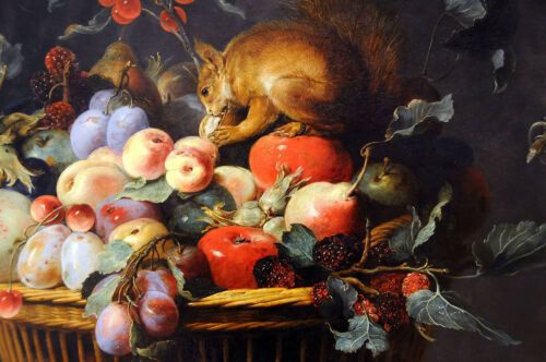 Still Life With Fruit Frans Snyde Painting Picture Fine Art Re-Print A3 A4