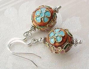 Cloisonne-Earrings-Rust-Red-Marie-Antoinette-Versailles-Court-Cosplay-Mundane