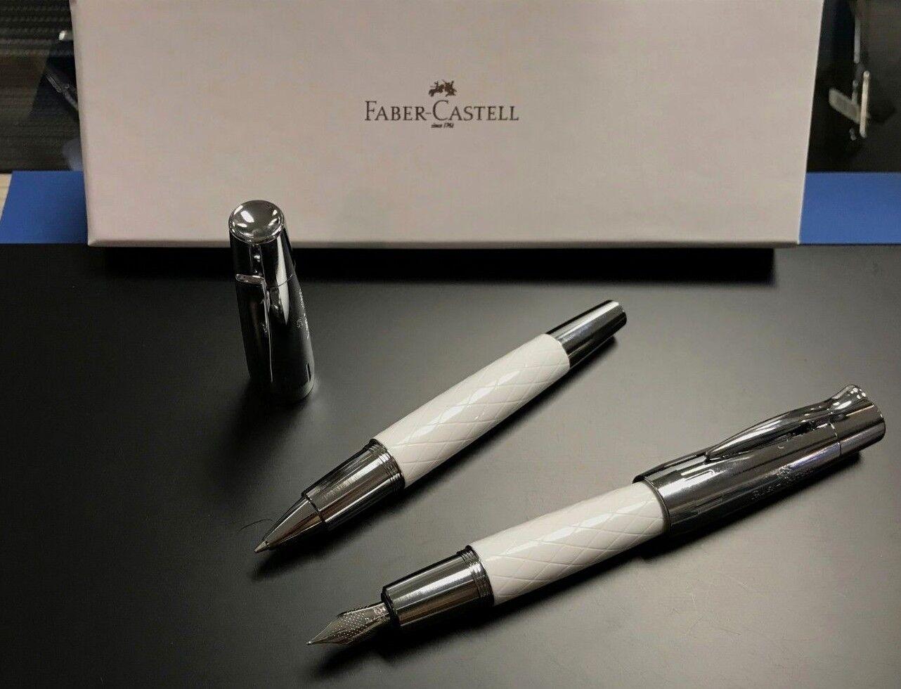 Faber-Castell e-motion Edelharz Rhombus weiß Füllfederhalter (F), Tintenroller | Haltbarkeit