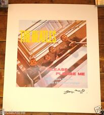 BEATLES PLEASE PLEASE ME HIGH QUALITY LITHO PRINT HAND SIGNED BY GEORGE MARTIN
