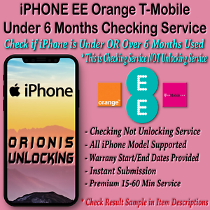 Details about iPhone XS MAX XR X 8 7 6 6S 5S 5 5C PLUS WARRANTY CHECKING  SERVICE EE O2 UK