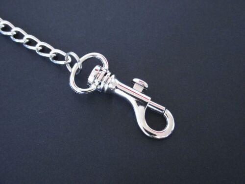 Hosenkette Geldbörsenkette mit Gürtelschlaufe in dunkelbraun Schlüsselkette